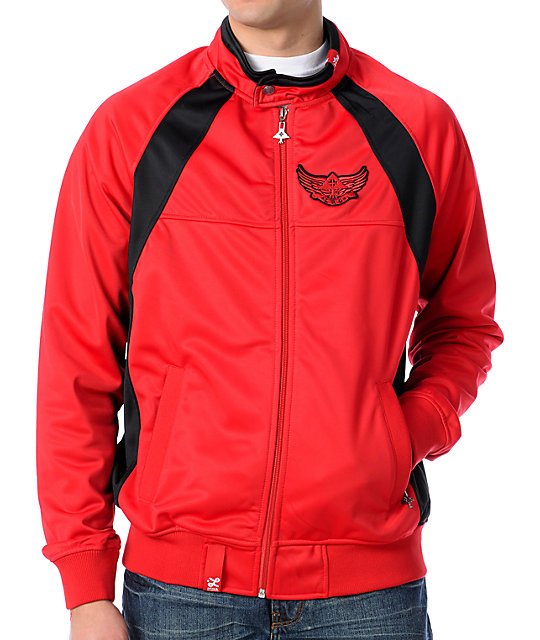 LRG Elevate Red Track Jacket