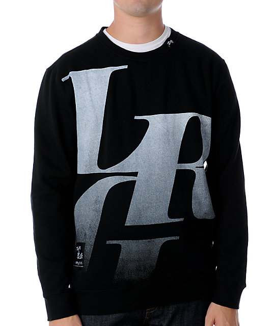 LRG Elite Fleet Black Crew Neck Sweatshirt