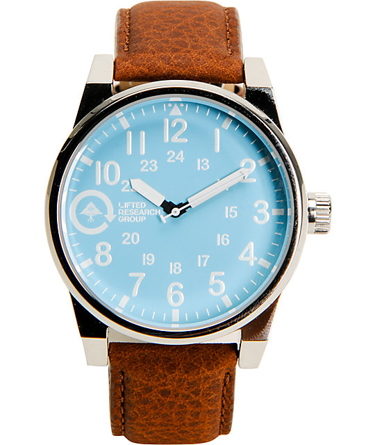 LRG Field And Research Brown & Silver & Blue Analog Watch
