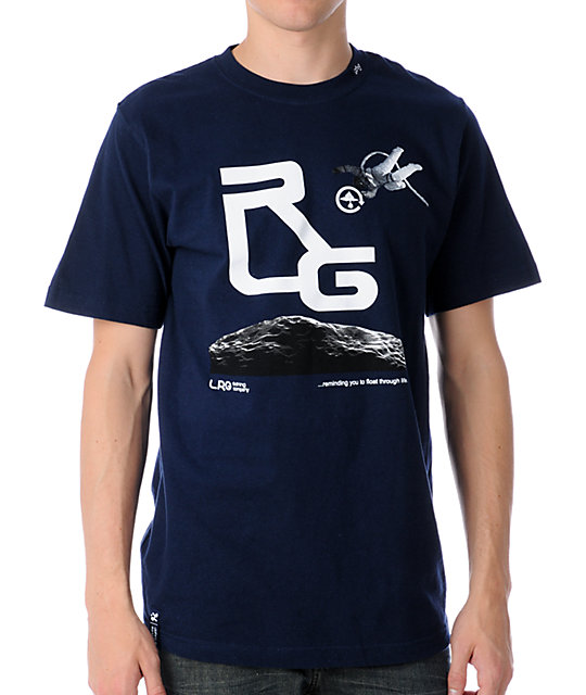 LRG Float On Navy T-Shirt