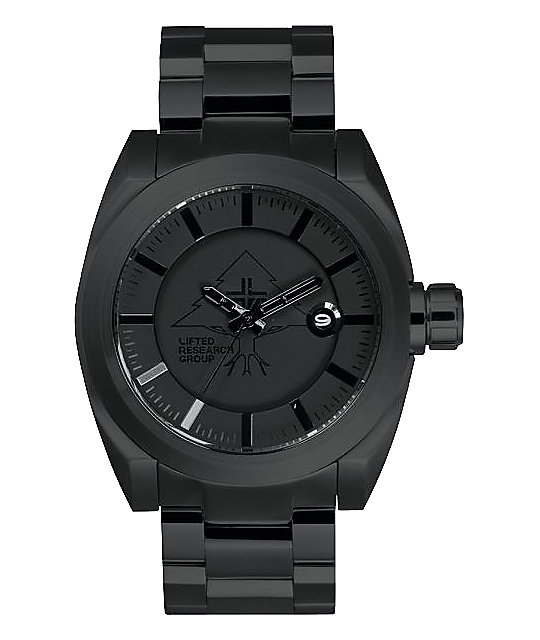 LRG Force Black Analog Watch