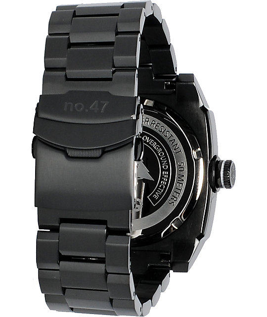 LRG Gauge Black Analog Watch