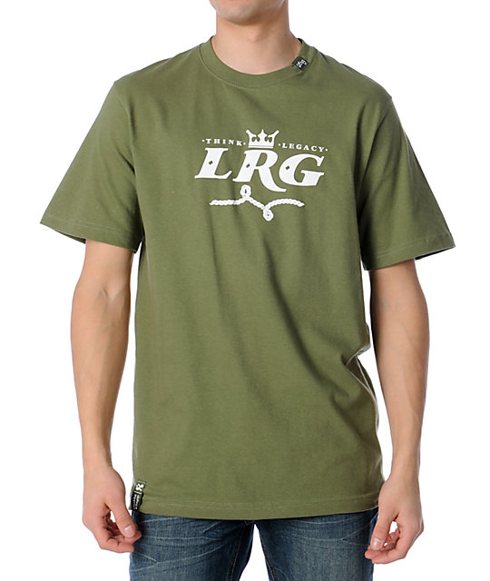 LRG Good To Be King Olive Green T-Shirt