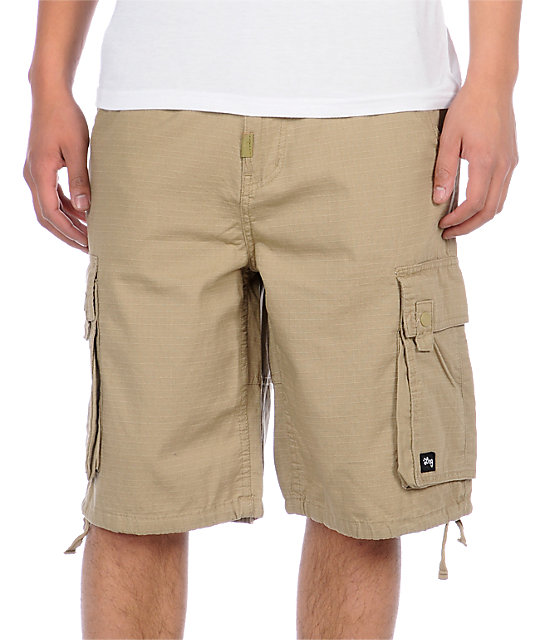 LRG Grass Roots 2 Khaki Cargo Shorts
