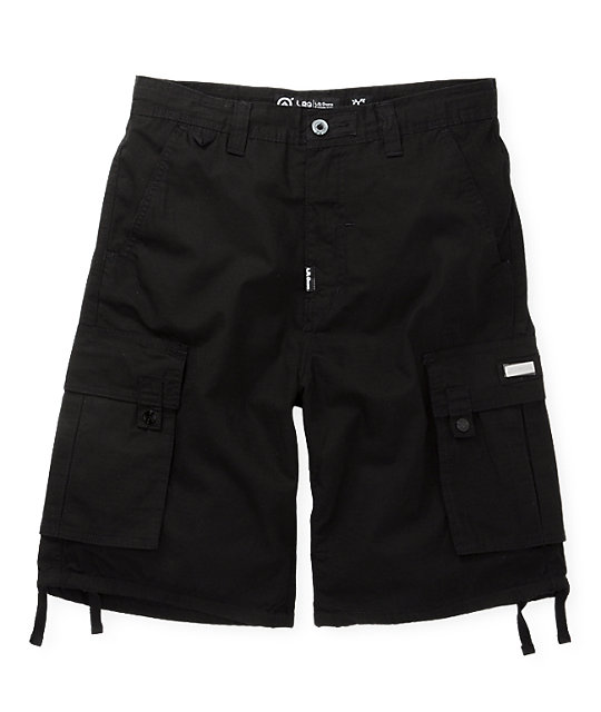 LRG Grass Roots Black Cargo Shorts
