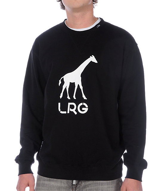 LRG Grass Roots Black Crew Neck Sweatshirt