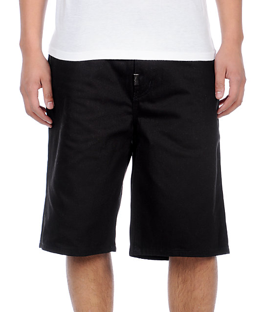 LRG Grass Roots Black Denim Shorts