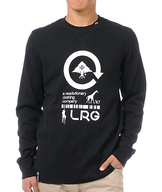 LRG Grass Roots Black Long Sleeve Thermal Shirt