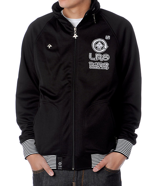 LRG Grass Roots Black Track Jacket