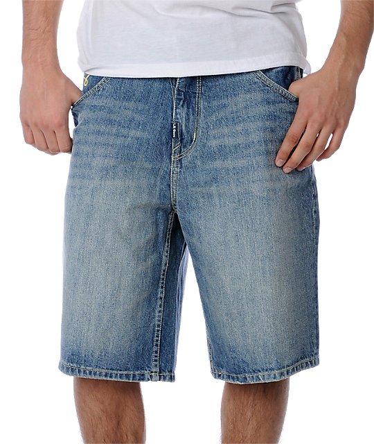 LRG Grass Roots Blue Denim Shorts