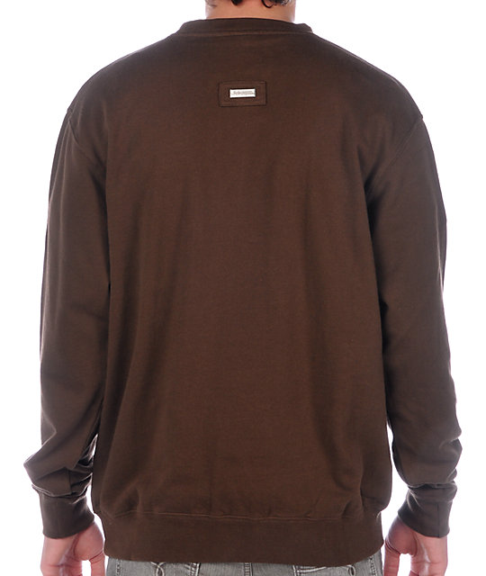 LRG Grass Roots Brown Crew Neck Sweatshirt