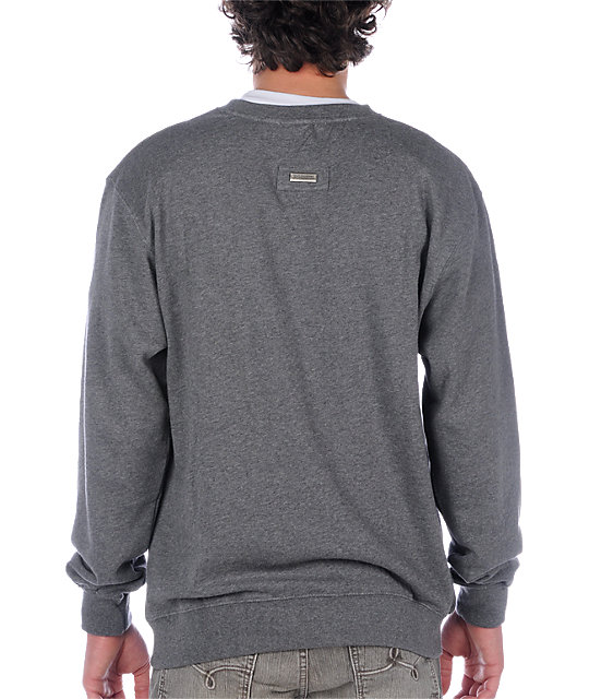 LRG Grass Roots Grey Crew Neck Sweatshirt
