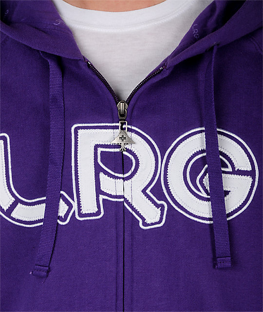LRG Grass Roots One Purple Hoodie