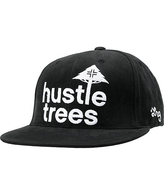 LRG Hustle Trees Black Corduroy Snapback Hat  c089df26258