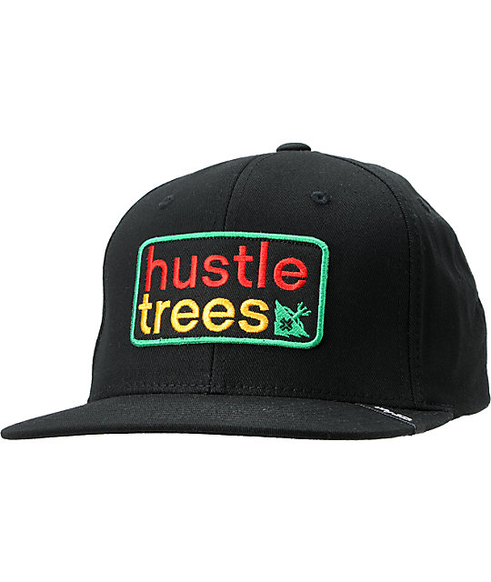 LRG Hustle Trees Patch Black Snapback Hat