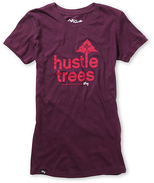 LRG Hustle Trees Plum Purple T-Shirt