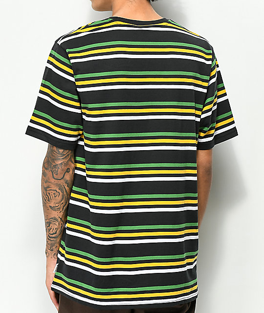 LRG Irie Striped Black Knit T-Shirt