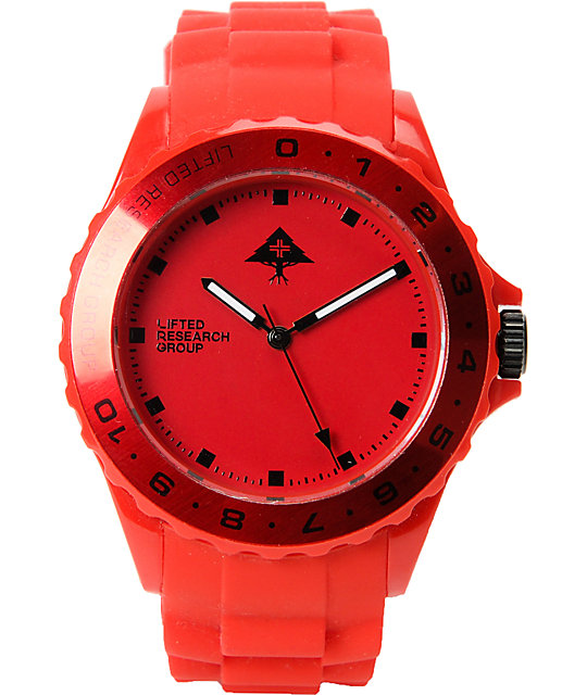 LRG Latitude Red Analog Watch