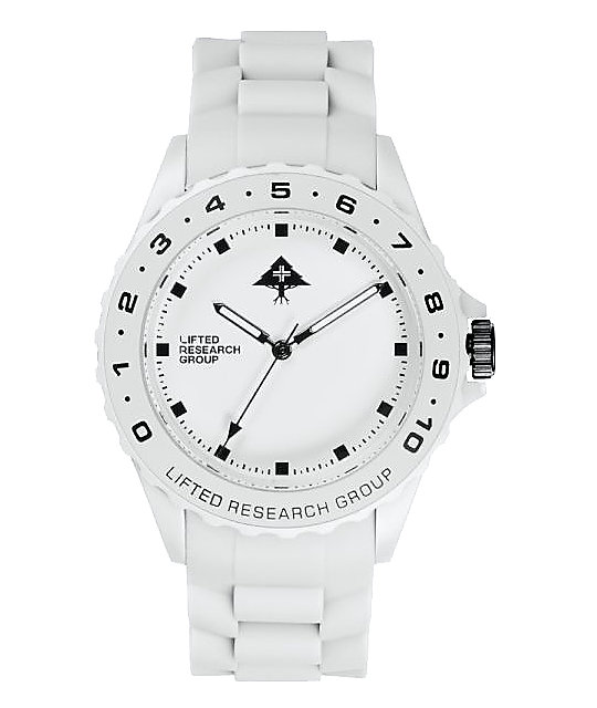 LRG Latitude White Analog Watch