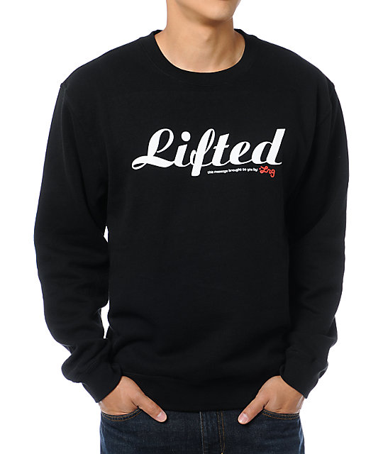 LRG Lifted Black Crew Neck Sweatshirt