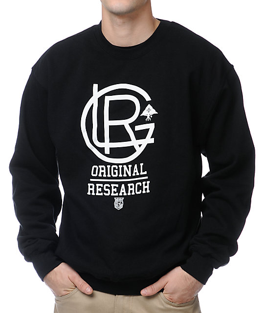 LRG Lrgents Fleece Black Crewneck Sweatshirt