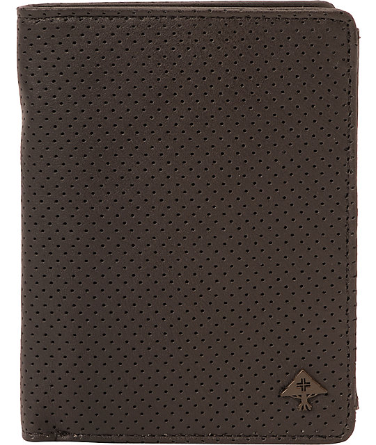 LRG Money Bags Perforated Brown Wallet