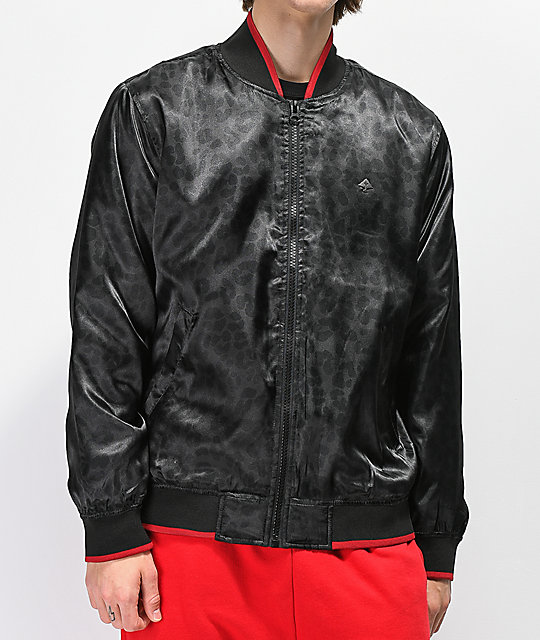 LRG Natural Geo Black Bomber Jacket