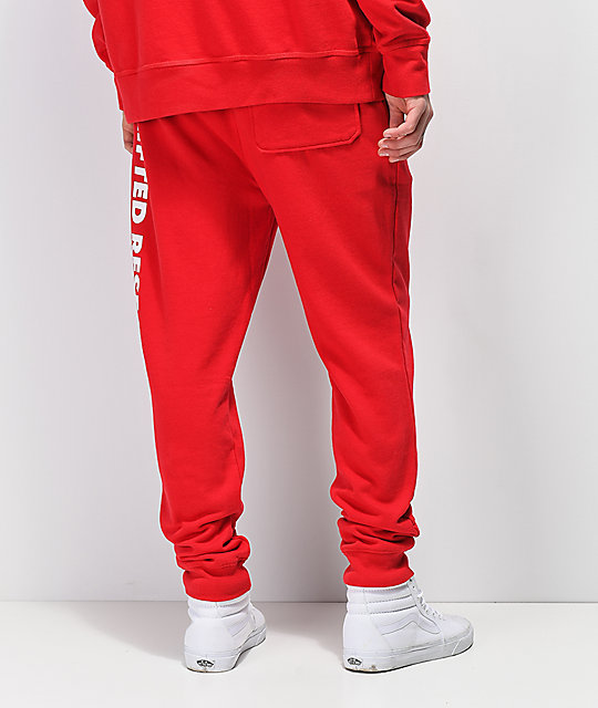 LRG Natural Roots Red Fleece Jogger Pants