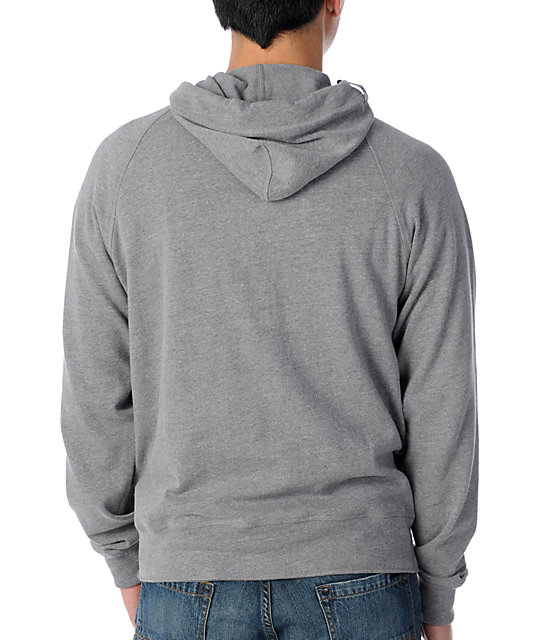LRG Out Work Henley Grey Hoodie