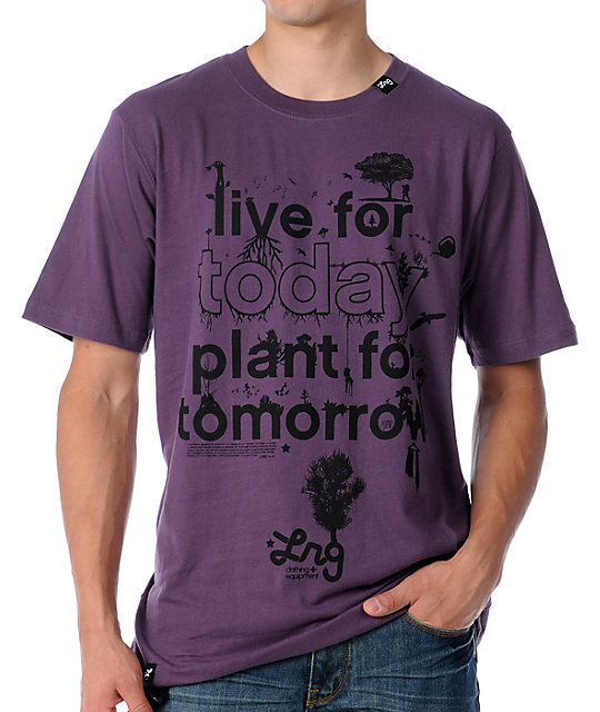 LRG Plant For Today Violet T-Shirt