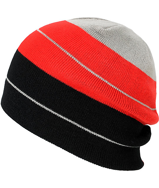 LRG Present Future Black & Red Beanie