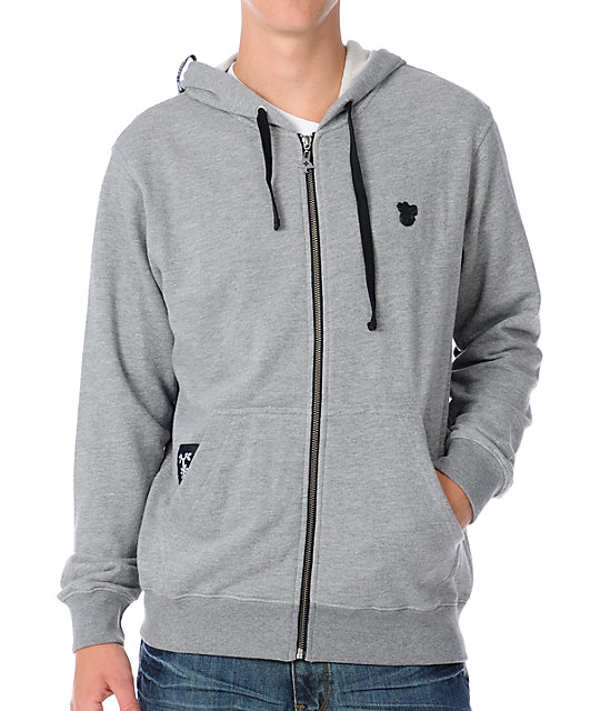 LRG Presta Grey Zip Up Hoodie