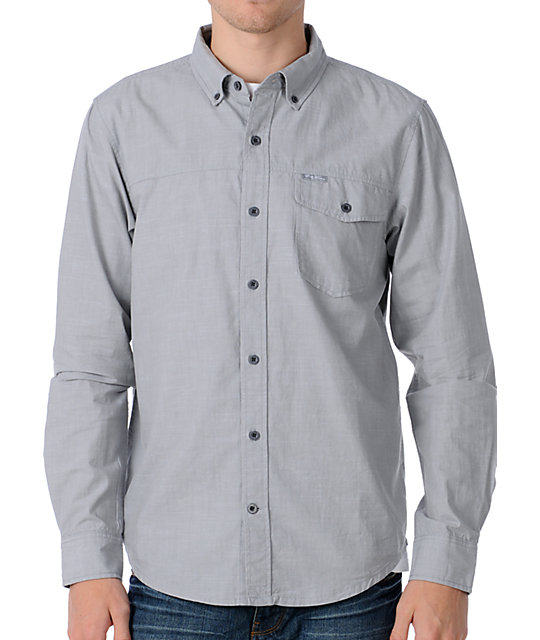 LRG Research Control Grey Woven Shirt