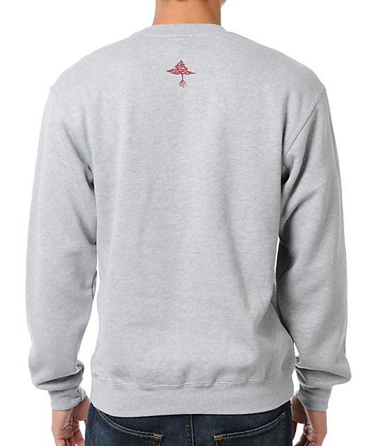 LRG Research Heather Grey Crew Neck Sweatshirt