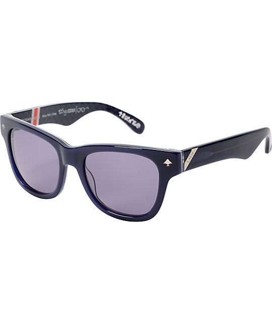 LRG Research Icon Navy Pattern & Grey Sunglasses