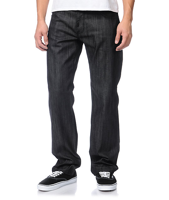 LRG Resolutionaries True Straight Fit Raw Black Jeans