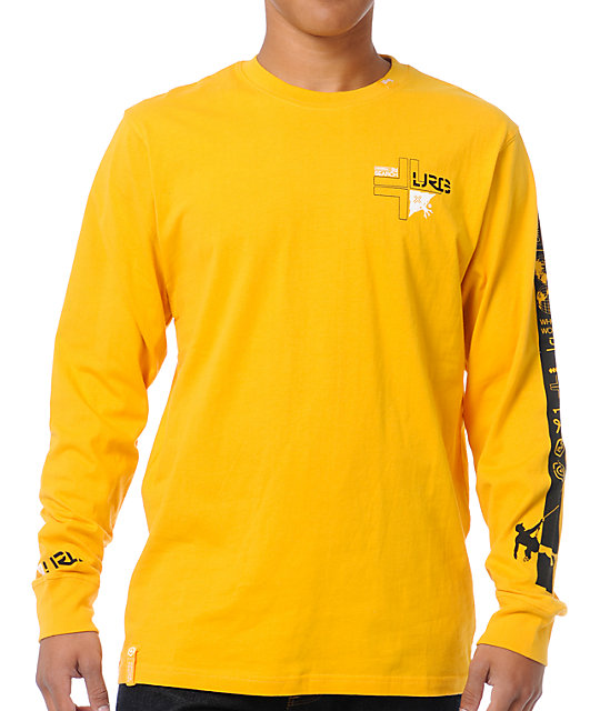 LRG Splitter Yellow Long Sleeve Shirt