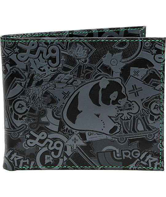 Lrg Stick Up Black Grey Wallet Zumiez