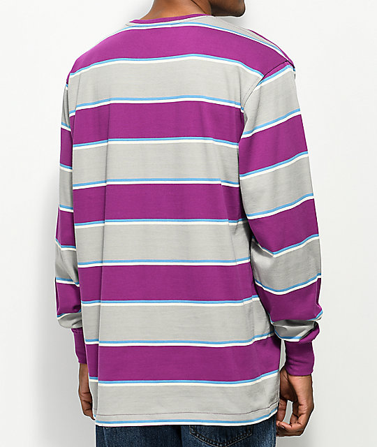LRG Striped Purple Long Sleeve Shirt