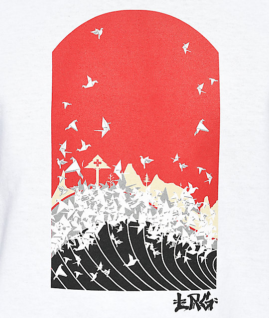 LRG Sunrise Crane White T-Shirt