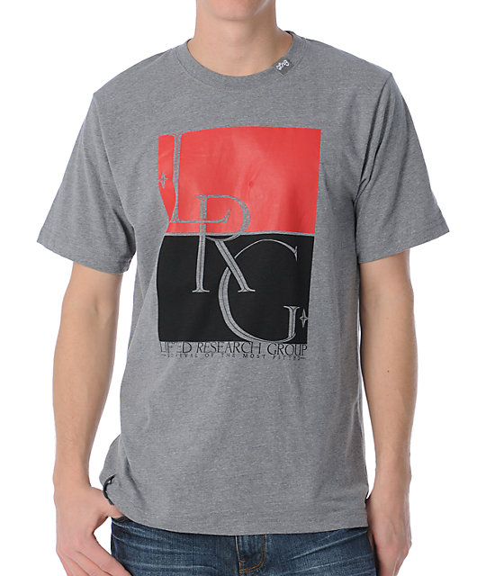 LRG Survival Of The Most Heather Grey T-Shirt