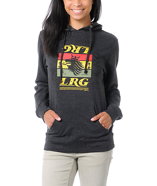 LRG Think Legacy Charcoal Grey Pullover Hoodie