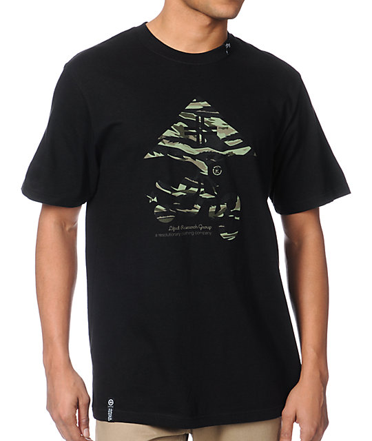 LRG Tiger Leaf Blammer Black T-Shirt