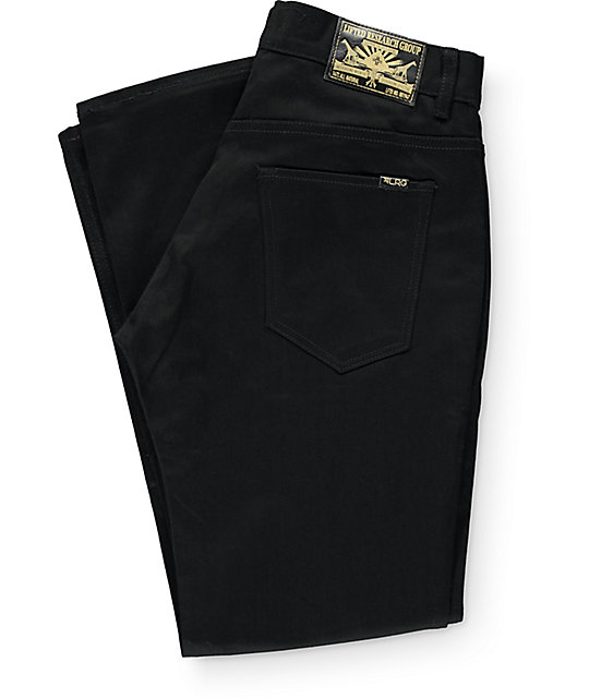 LRG True Taper Triple Black Regular Fit Jeans