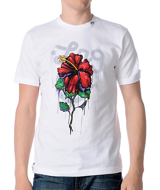 LRG Wet Whole Flower White T-Shirt