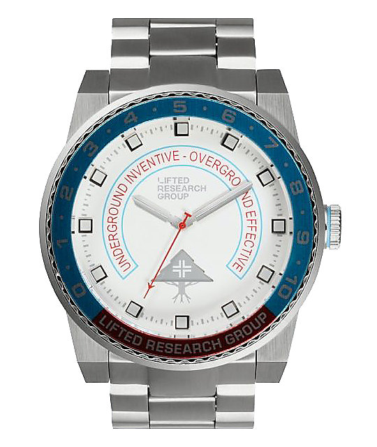 LRG Yacht White, Blue, & Silver Watch