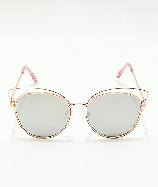 Lady Like Cateye Rose Gold Sunglasses