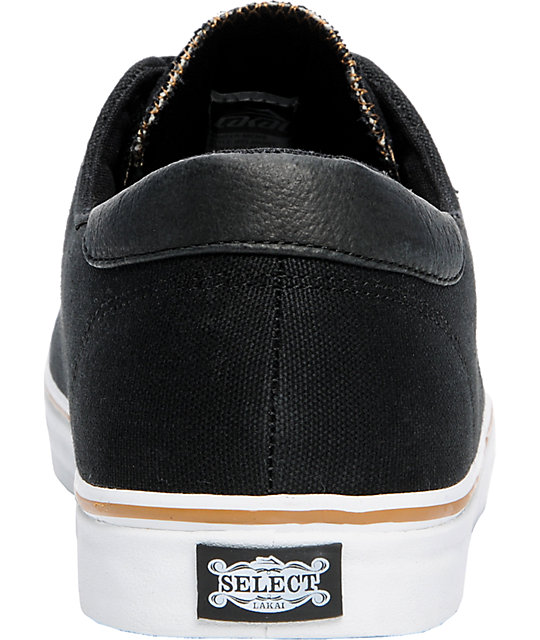 Lakai Belmont Black Canvas Shoes