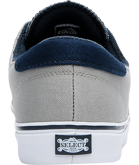 Lakai Belmont Navy & Grey Canvas Shoes