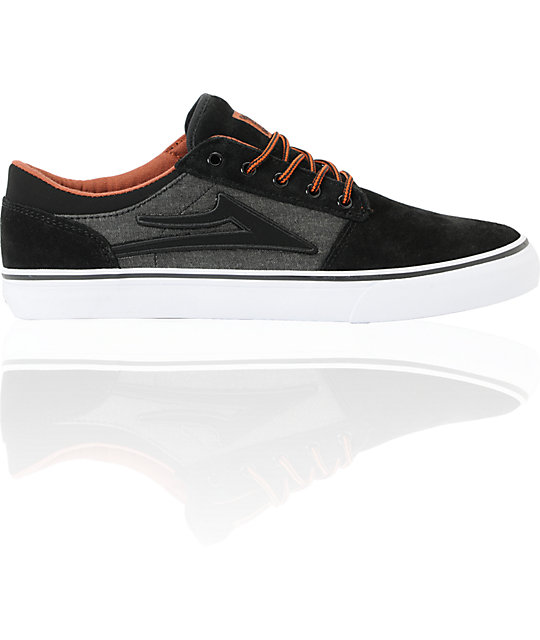 Lakai Brea Black & Grey Suede Skate Shoes